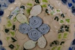 Detail porseleinen bolletjes schaal