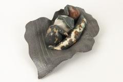 Ovale bronzen schaal