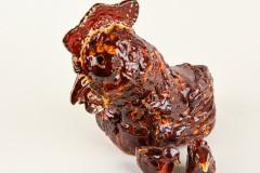 Rode kip met kuikens